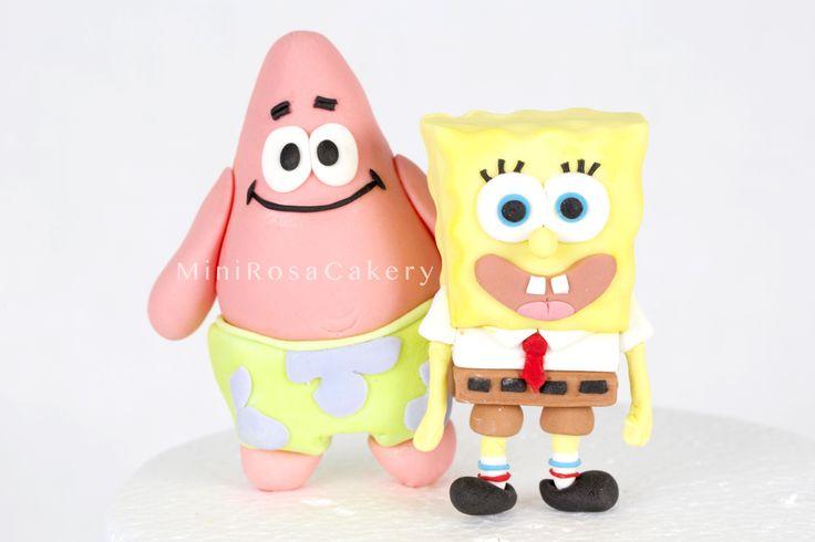 SpongeBob and Patrick fondant topping