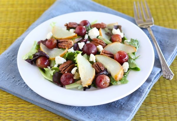 Roasted Pear and Grape Salad: Pears Salad, Fall Food, Fresh Fall, Food Fetish, Fall Salad, Roasted Pears And Grape Salad, Pears Grap Salad, Complete Recipes, Gotta Eating