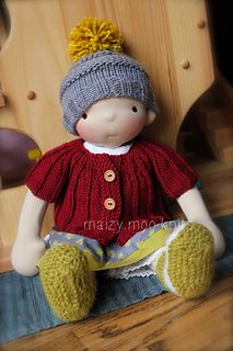Waldorf inspired doll, with knitted outfit