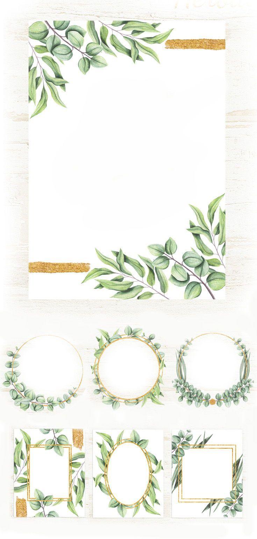 Download Herbal Frames 101813 Illustrations Design Bundles Floral Border Design Frame Border Design Watercolor Design