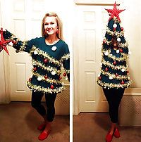 Ugly holiday sweater!