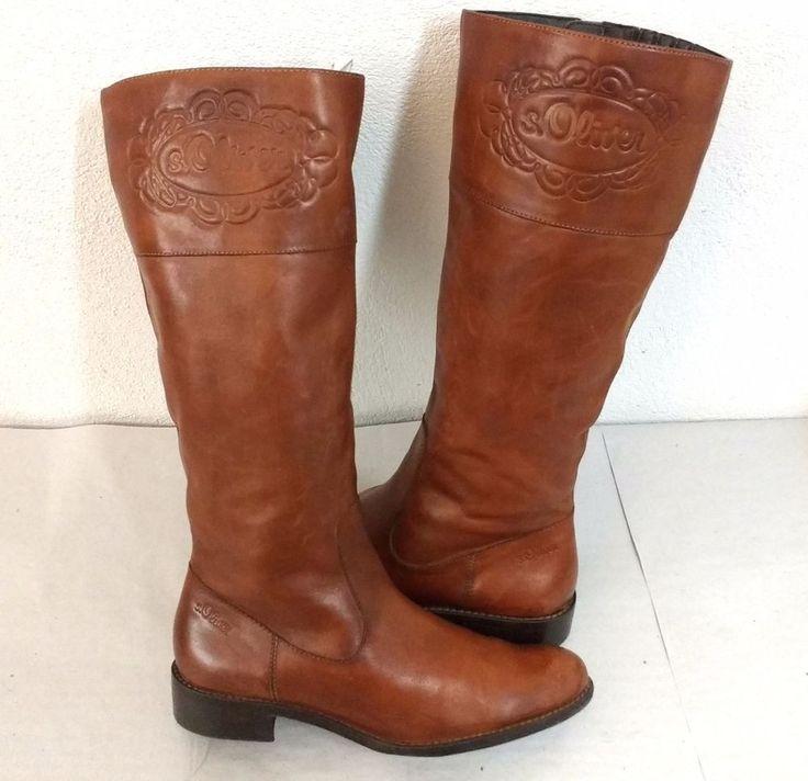 super schöne s.Oliver Damen Stiefel Gr38 NP 120 Euro Echtleder Damenschuhe flach in Kleidung & Accessoires, Damenschuhe, Stiefel & Stiefeletten | eBay!