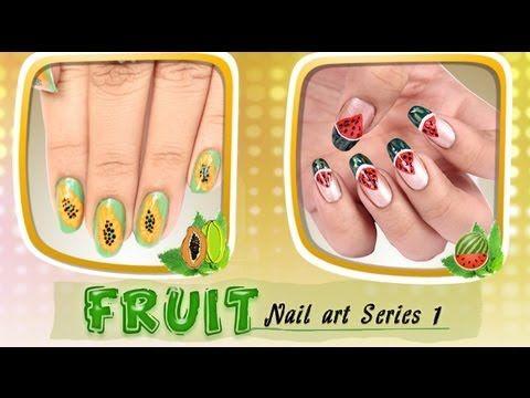 Fruit Nail Art Series 1 Tutorial For Beginners!!!!!     http://www.youtube.com/watch?v=UwnPMt7dmOc