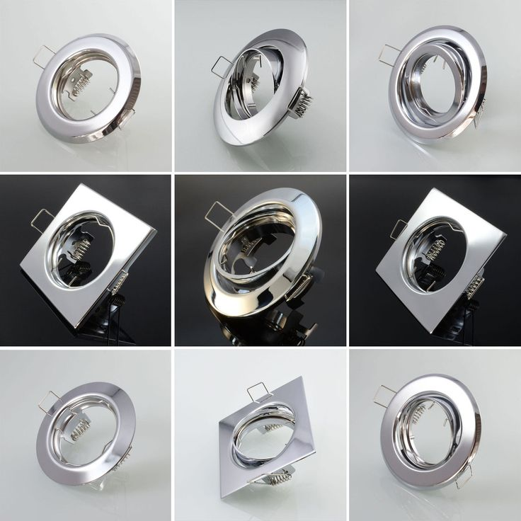 Einbaustrahler Einbauleuchte Einbauspot Einbaurahmen Chrom GU10 Spot LED Rahmen | eBay