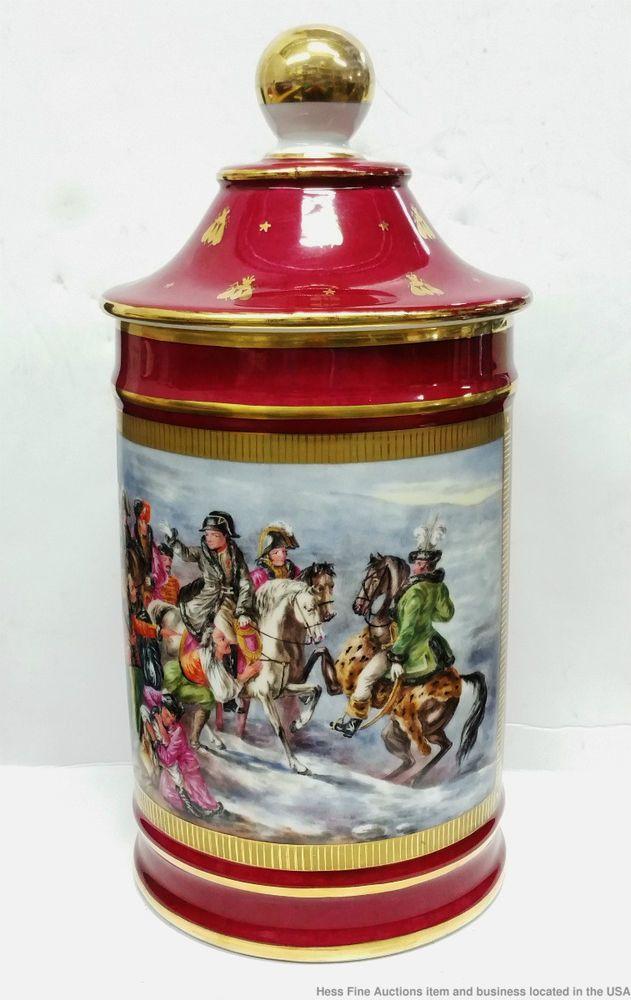 Fine Le Tallec Paris Napoleonic Porcelain Limoges Hand Painted Vintage 12in Jar  #LeTallec