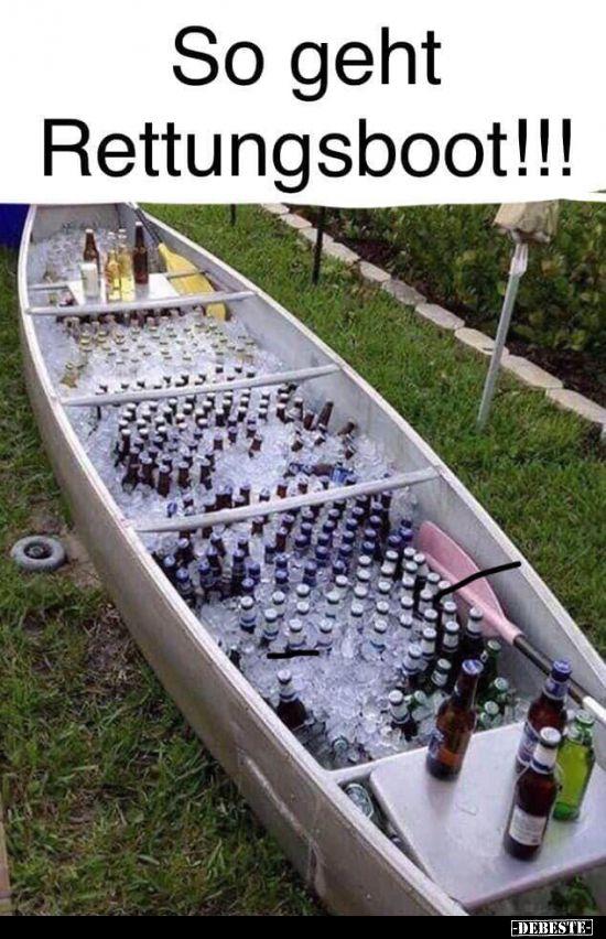So geht Rettunsboot! | Lustige Bilder, Sprüche, Witze, echt lustig
