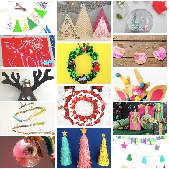 14 awesome easy ideas for christmas crafts for kids #kids #christmas #art #diy #children #festive