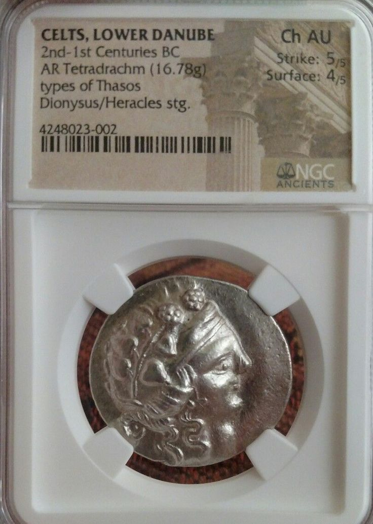 Celts, Lower Danube AR Tetradrachm Thasos NGV Choice AU 5/4 Ancient Silver Coin  Price : $595.00  Ends on : 3 weeks Order Now