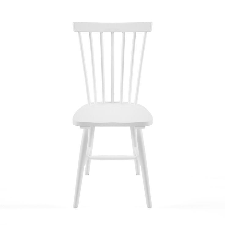 6-pakk! Wood pinnestol fra Department i hvitpigmentert eik. Pinnestolen er en tidløs klassiker som har ...