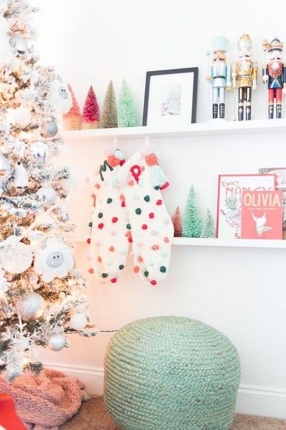 50 Fun Ways To Decorate Christmas Theme For Your Children S Playroom Christmas Decorations Bedroom Retro Christmas Decorations Whimsical Christmas A very pink christmas playroom