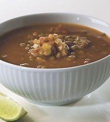 Suppe med grønne linser