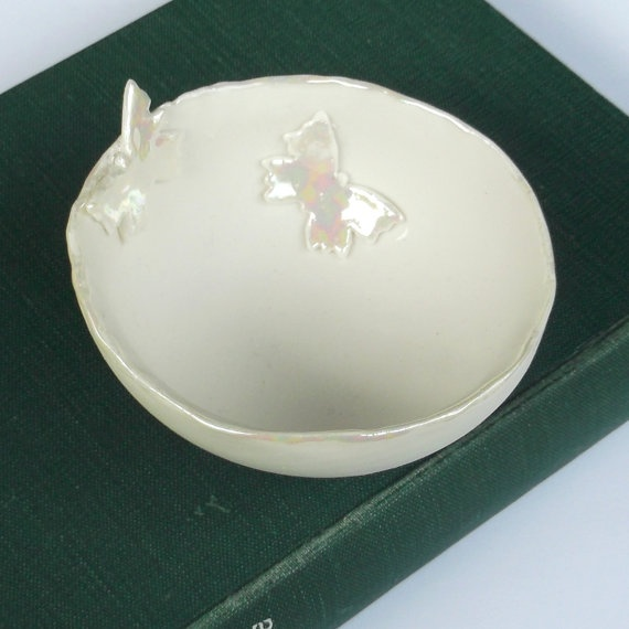 Handmade Porcelain Medium Decorative Butterfly Bowl by melissaceramics, £19.50  #handmade #porcelain #gift #bowl #butterfly