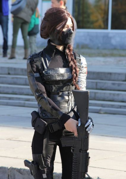I should totally be Bucky if we dress up for the Avengers movie thing or halloween. @fashiondistrict