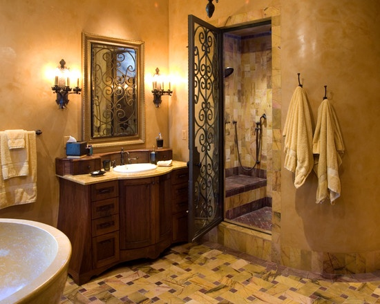 Manian Residence - mediterranean - bathroom - los angeles - James Glover Residential & Interior Design