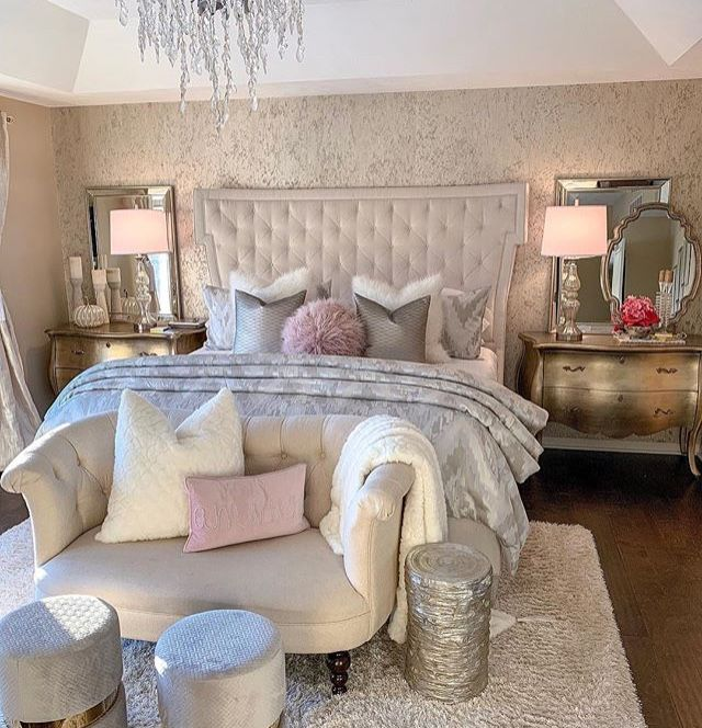 Farah Merhi Designer S Home Mi Feb 2019 In 2020 Glamourous Bedroom Amazing Bedroom Designs Master Bedrooms Decor