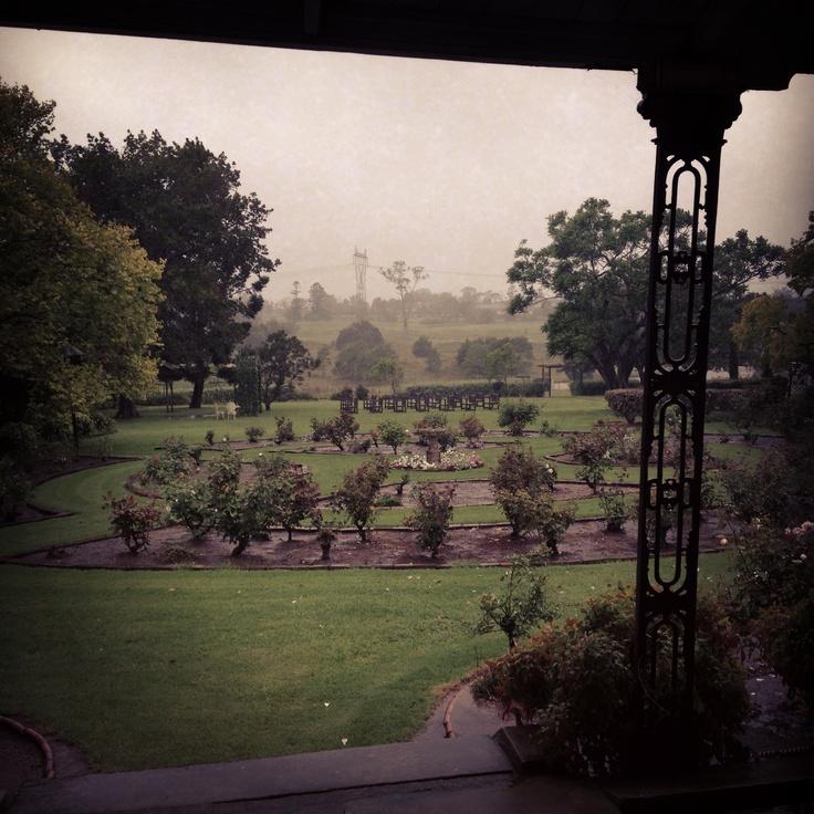 The gardens @GledswoodHomesteadandWinery on a very rainy day