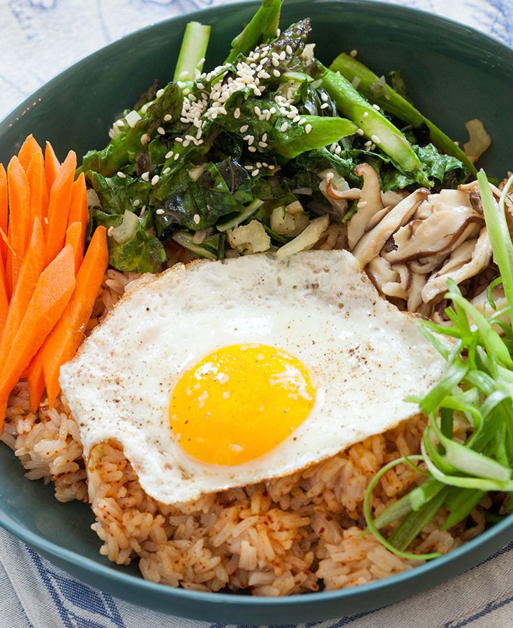 ... rice bowl korean rice bowl with steak asparagus and fried egg recipes