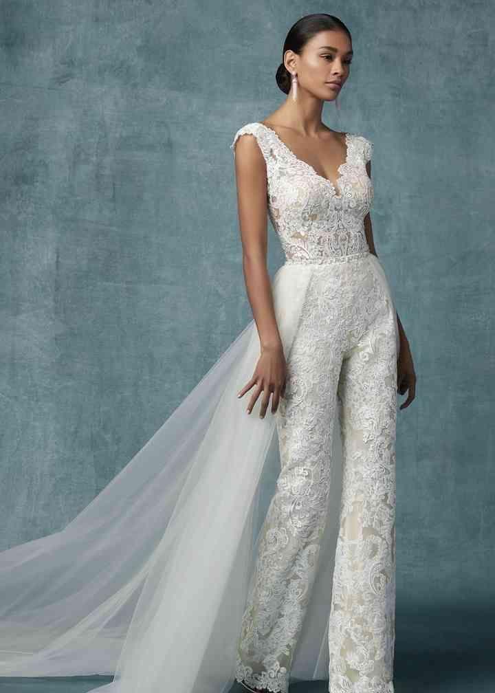 Alternative Wedding Jumpsuits For 2020 Brides In 2020 Wedding Dress Jumpsuit Wedding Dresses Vintage Bridal Jumpsuit