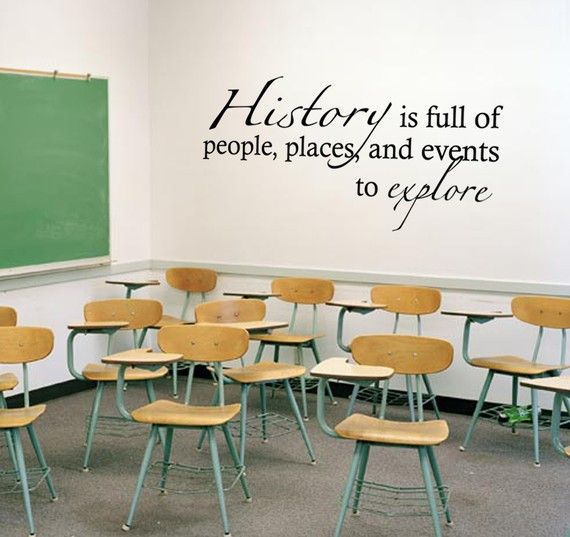 Wall decals to decorate a classroom. Saw one room where a teacher put flower decals on the corners of her whiteboard- looked really pretty.