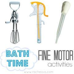 bath time fine motor activities