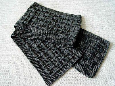 Вяжем мужской шарф/Scaff for men, how to