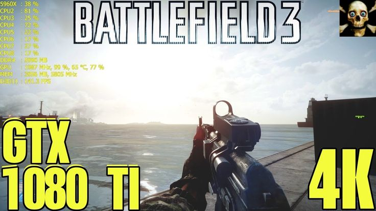 Battlefield 3 4K UltraHD Gtx 1080 TI Fps Performance Ultra Settings!!
