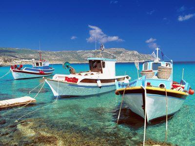 Fishing Boats at Anopi Beach, Karpathos, Dodecanese, Greek Islands, Greece, Europe