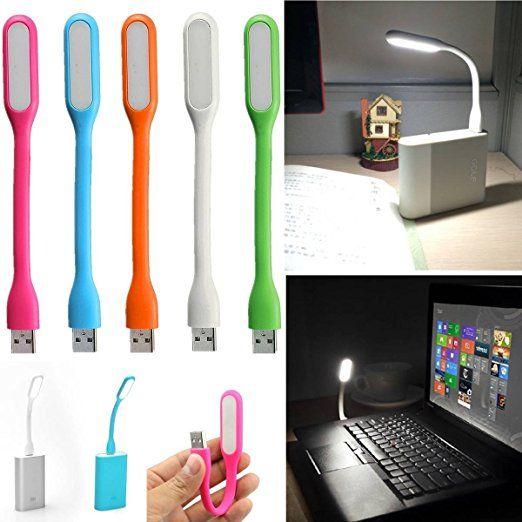 SOLMORE 1.2W LED Lampe avec USB Prise Tactile Flexible Veilleuse Léger Portable Lumière Réglable Lampe de Poche éclairage pour Ordinateur/PC/Lecture/Bureau/Table Chevet /Urgent/Enfant/Bébé 5V Blanc