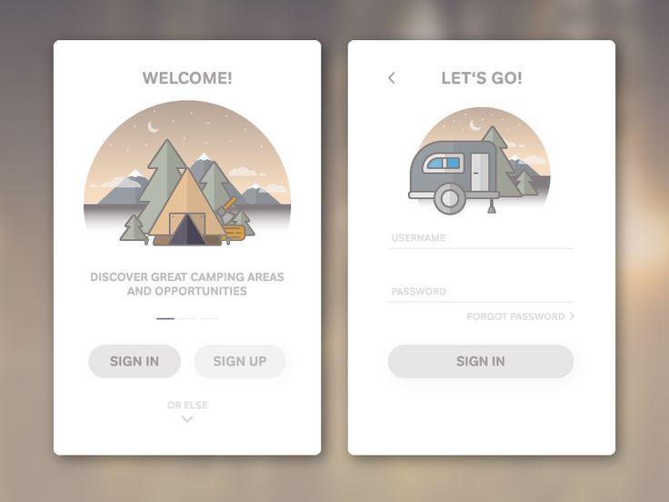 Camping App - Login by Fabian Kuntz