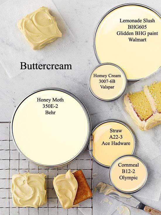 Buttercream Yellow paint colors via BHG.com