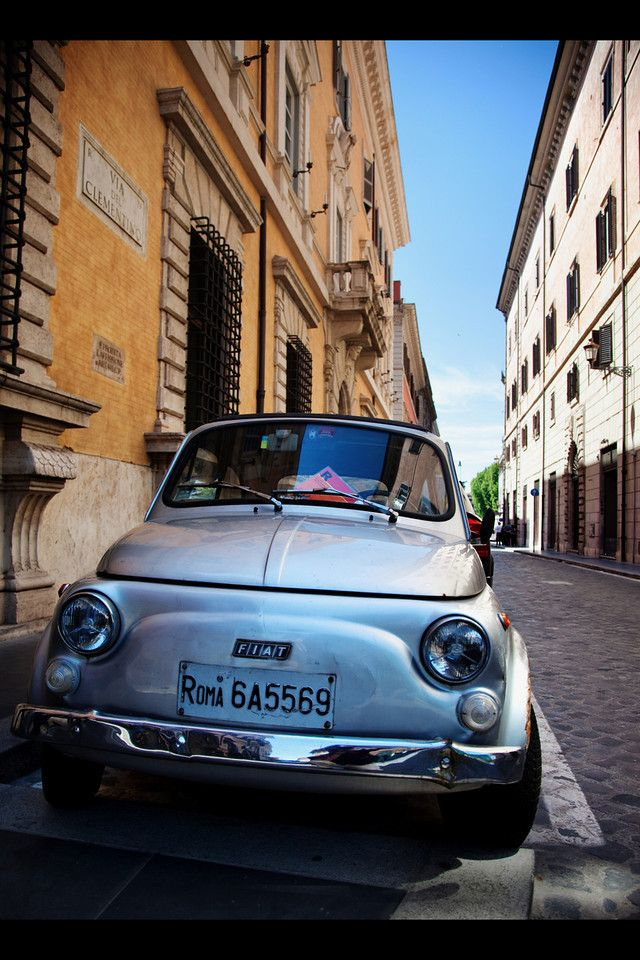 Rome..rome...rome!: Romans Holidays, Rome Rome Rom, Rome Italy, Cool Cars, Cities Street, Parallel Parks, 500 Rome, Fiat 500, Fiat500