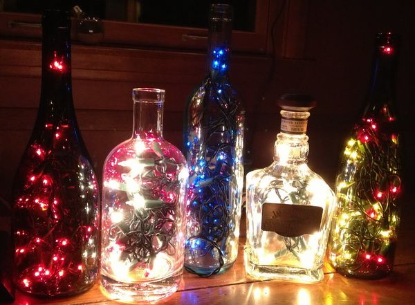 How to make a lamp out of an old bottle easy fun diy for Things made from wine bottles