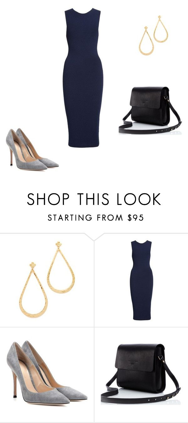 """""""Untitled #5071"""" by explorer-14576312872 ❤ liked on Polyvore featuring Gas Bijoux, Victoria Beckham and Gianvito Rossi"""