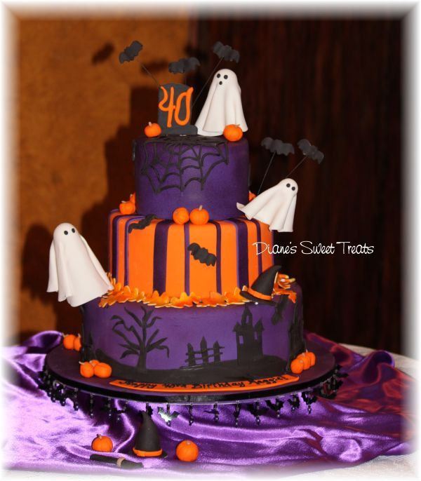 Halloween Birthday Cakes   wanted to thank you for the fabulous birthday cake. I loved it!
