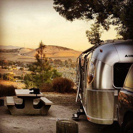 RV Camping-Airstream Travel Trailer Camping