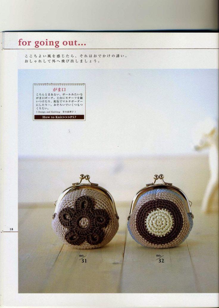 Monederos De Crochet. Patrones De Blusas Tejidas A Crochet Key ...