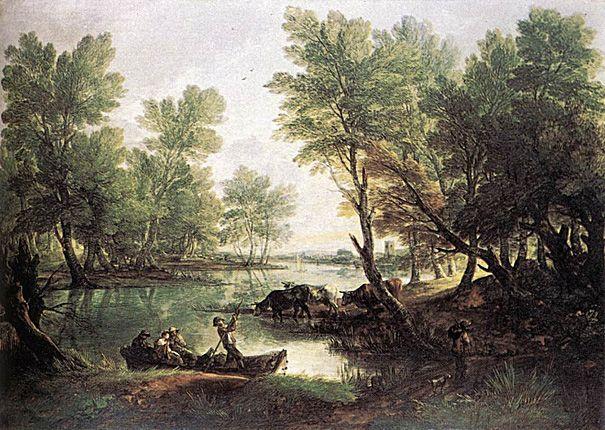 River Landscape: 1768-70, Thomas Gainsborough