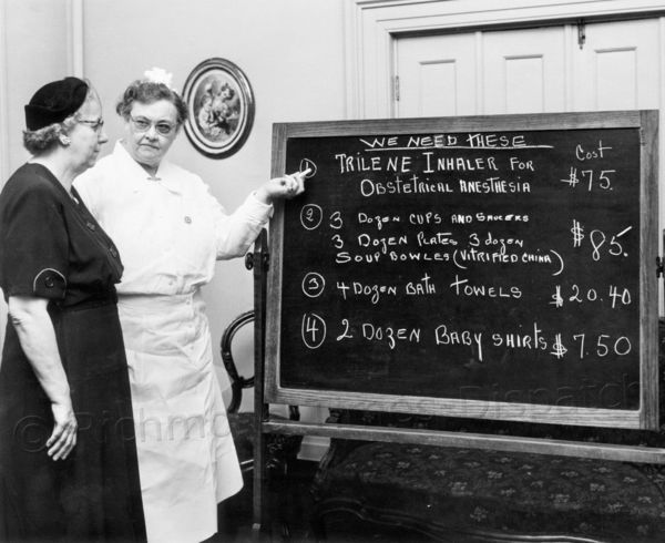 In November 1953, Natalie Curtis (right), superintendent of Sheltering Arms Hospital, pointed out some of its needs to Mrs. Earl Brown, president of the Richmond City Union of King's Daughters, which actively supported the hospital. Sheltering Arms, which is celebrating its 125th anniversary this year, now serves as a rehabilitation facility Richmond.com: From The Archives