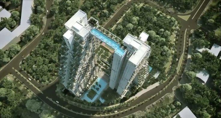 """Sky Habitat è l'ambizioso progetto architettonico, si legga anche di arredo urbano, dell' israelo-canadese Moshe Safdie che svetterà a Singapore nel 2015. Ben 38 piani, 574 appartamenti, e soprattutto due piscine. Una delle quali è a prova di vertigini: la """"Sky Pool&q"""