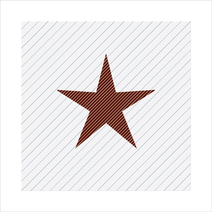 #035 - Red Star - 59-61 Project - Minimal graphic poster every day.