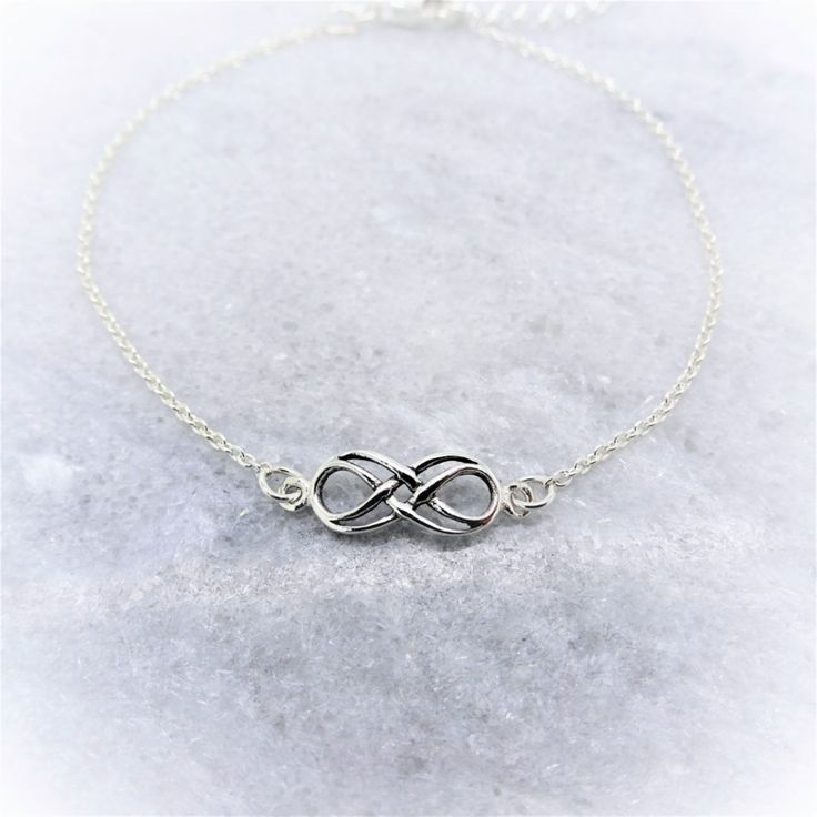 Zilveren Armband dubbele Infinity