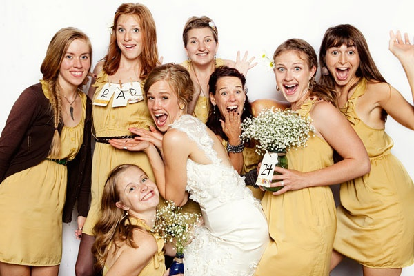 Mustard bridesmaid's dresses by Lulu's