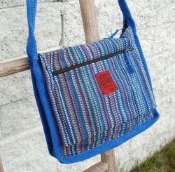 Skulderveske / shoulder bag fair trade, made in Nepal