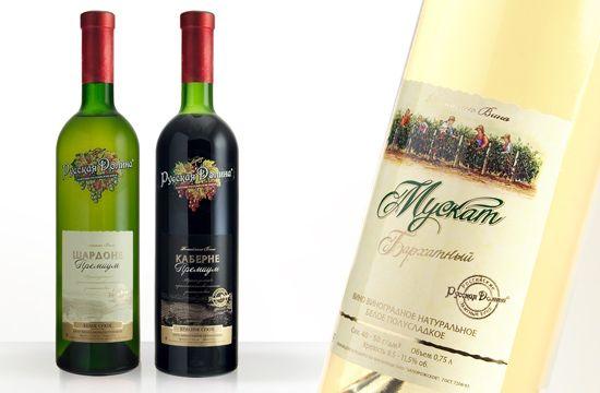 дизайн этикетки вино цель создание узнаваемого образа тм Русская Долина