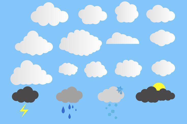 雲イラスト:手描きの雲に可愛いくも、アートな雲や雷、雪、晴れ、くもり、天候によって違う様々な雲のイラストをepsやpngで配布中フリーで使えて商用利用可能です!すぐにダウンロードして無料で使える自然のデザイン装飾素材。