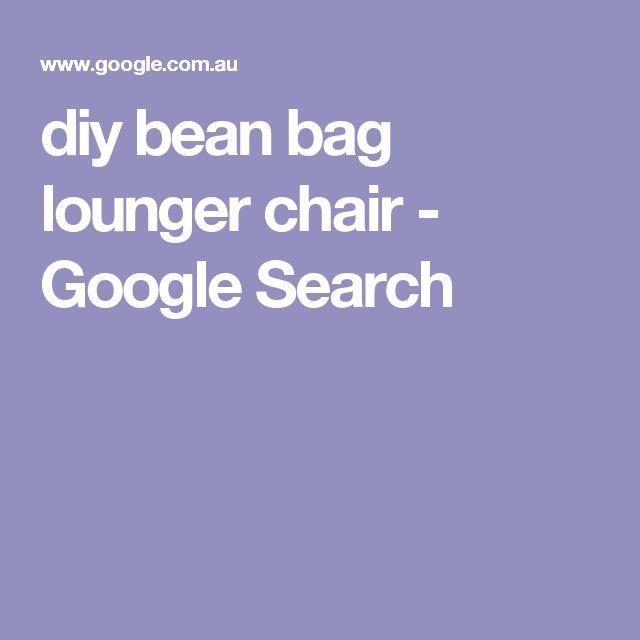diy bean bag lounger chair - Google Search