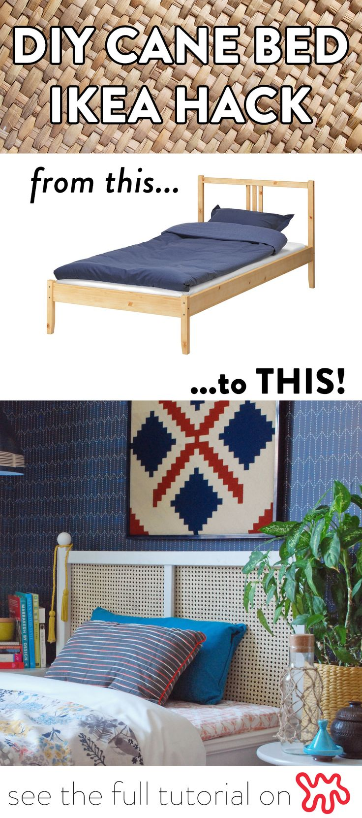 This project is quite easy to pull off — all it takes is a trip to IKEA for a $40 FJELLSE bed, followed by a hardware store run and then some patient DIY moves.