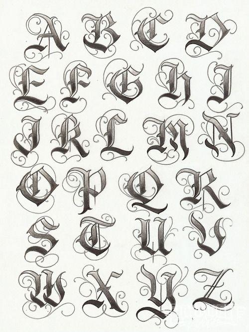 tattoo lettering alphabet fonts