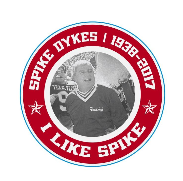 Coach Spike Dykes honored in memory with helmet decal!