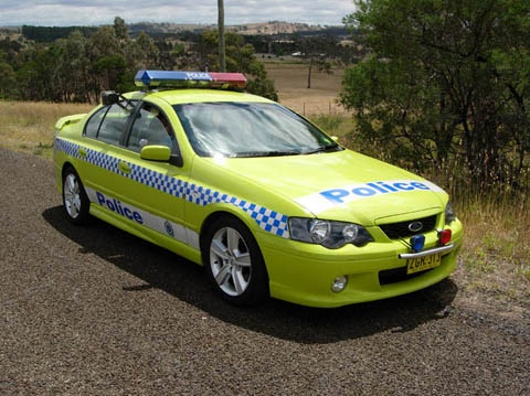 New South Wales Police. Australia. Ford Falcon XR6 Turbo Highway Patrol